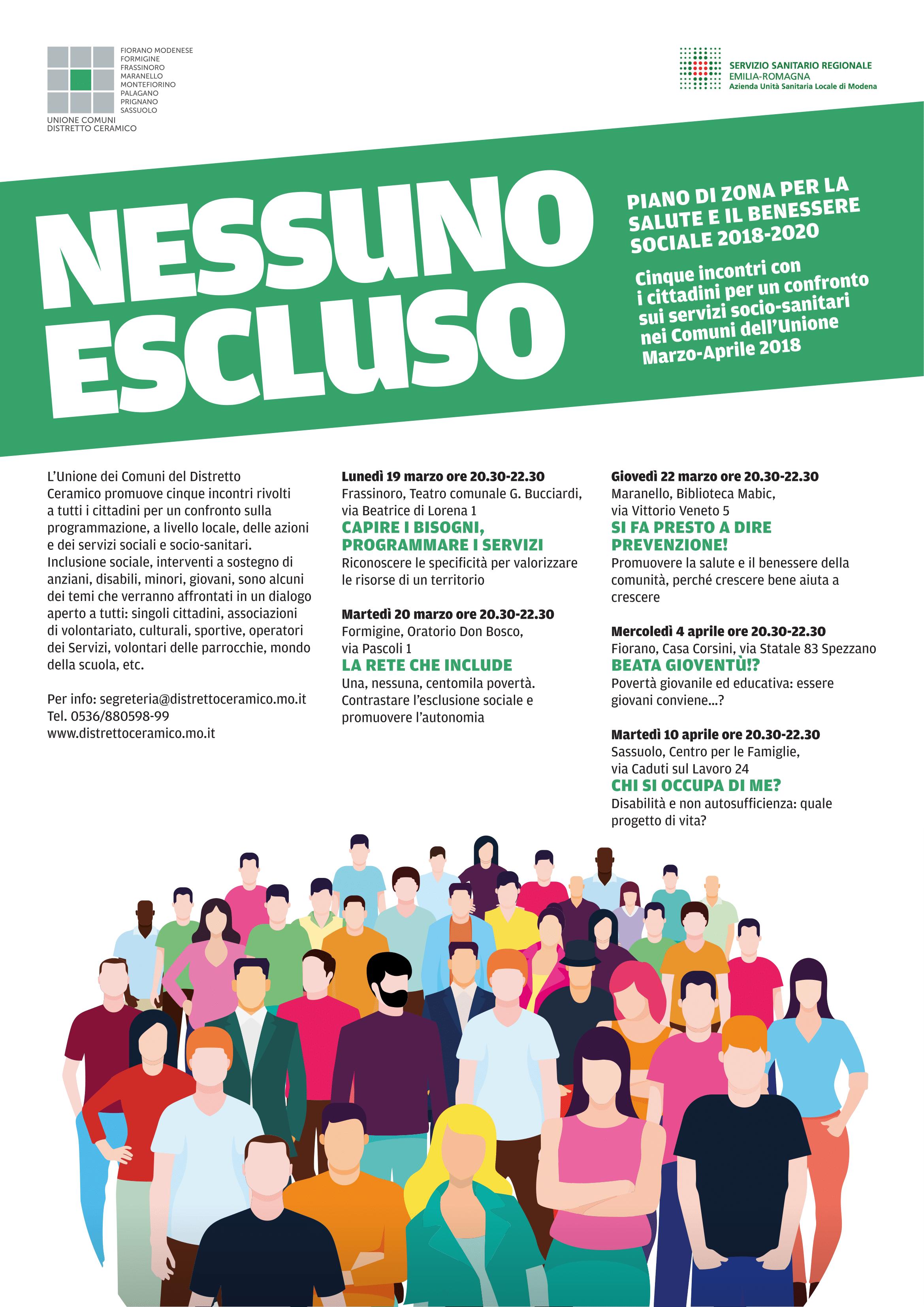 Nessuno Escluso Piano Di Zona Per La Salute E Il Benessere Sociale 2018 2020 Casa Corsini